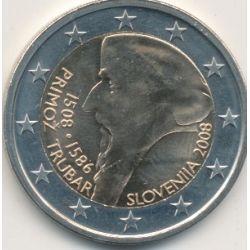 2€ Slovénie 2008 - 500e anniversaire naissance primoz tuber