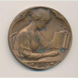 Médaille - L'écriture - par P.Lenoir - bronze - 1879-1929 -  41mm - TTB