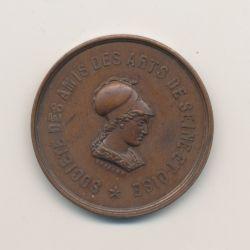 Médaille - Société des amis des arts de Seine et Oise - Versailles 1854 - bronze - 26mm - TTB+