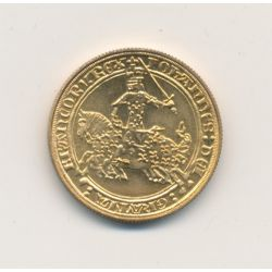 Médaille - Franc à cheval - bronze - 1981 - 21mm - SUP