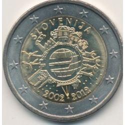 2€ Slovénie 2012 - 10 ans euro