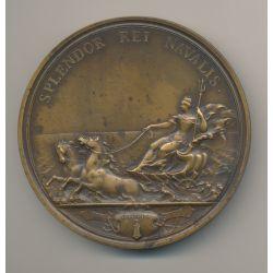 Médaille - Capitaine Jean Fougère - Splendor rei navalis - F.Mauger - bronze - 73mm - TTB