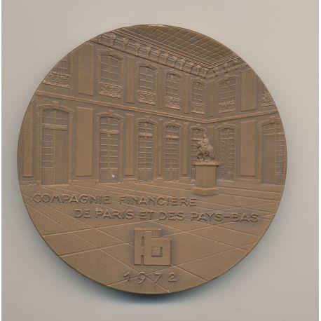 Médaille - Compagnie financière de Paris et des pays-bas - 1972 - bronze - 72mm - TTB+