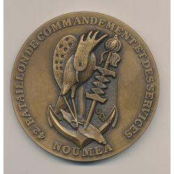 Médaille - 42e Bataillon de commandement des services - Nouméa - bronze - 84mm - SUP