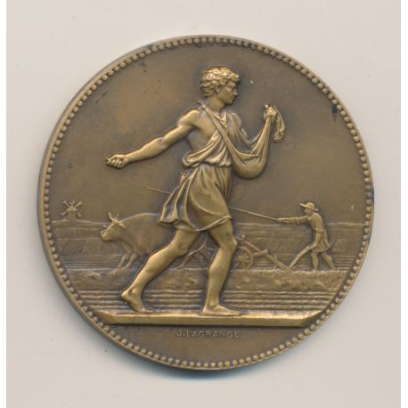 Médaille - Associations agricoles - J.Lagrange - bronze - 50mm - TTB+