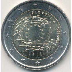 2€ Slovénie 2015 - 30e anniversaire drapeau européen