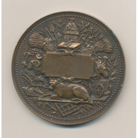 Médaille - Société des agriculteurs de France - bronze - 54mm - TTB