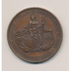 Médaille - Comice agricole Tours - cuivre - 40mm - TTB