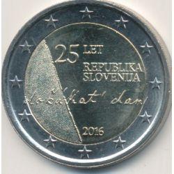 2€ Slovénie 2016 - 25e anniversaire indépendance république