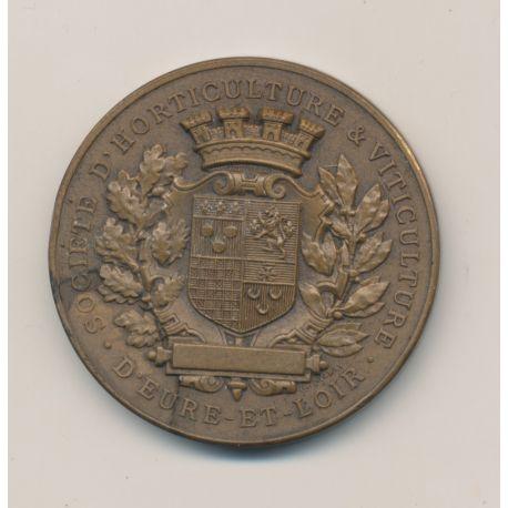 Médaille - Société d'horticulture et viticulture - Eure et loire - bronze - 41mm - Pingret