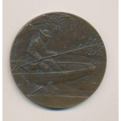Médaille - Concours de pêche - Petit journal - bronze - 50mm - Demey - TTB