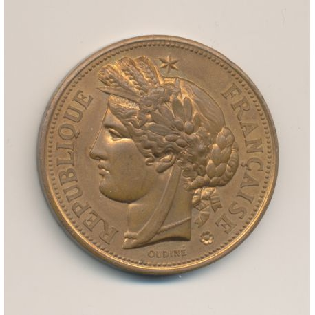 Médaille - Primes aux ouvriers et ouvrières de l'agriculture et de l'industrie - Amiens 1885 - bronze - 41mm - Oudiné - TTB+
