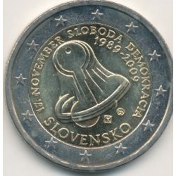 2€ Slovaquie 2009 - 20e anniversaire liberté et démocratie 1989