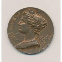 Médaille - Village Suisse - Paris 1900 - bronze - 37mm - TTB