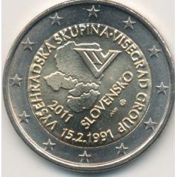 2€ Slovaquie 2011 - 20e anniversaire du groupe visegrad