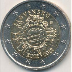 2€ Slovaquie 2012 - 10 ans euro