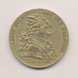 Médaille - Établissement de la mairie de Paris - sur la tranche Rombaldi - refrappe - 35mm - TTB+