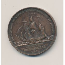 Jeton - Comptoir commercial - 1842 - cuivre - TTB
