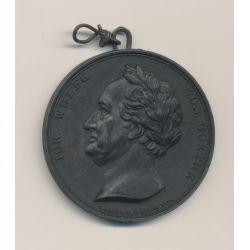 Médaille - Goethe - 1826 - étain - 42mm - TTB+