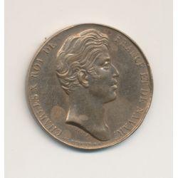 Médaille - Charles X - Donnée aux habitants de la Vendée - 27mm - bronze - TTB