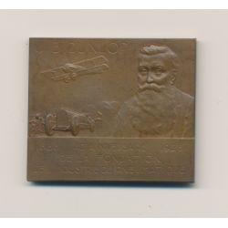 Plaquette - 40e anniversaire fondation Dunlop - 1888-1928 - avec boite d'origine - bronze - TTB+