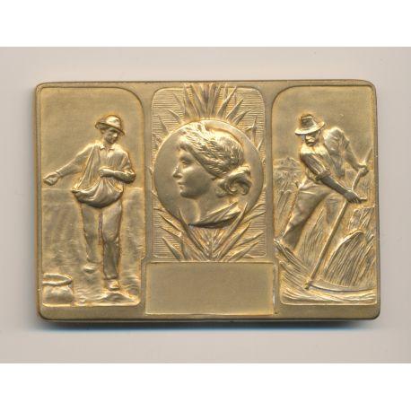Plaque - Thème Agriculture - bronze - TTB+