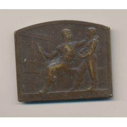 Plaquette - Thème Travail - bronze - par Blin - TTB