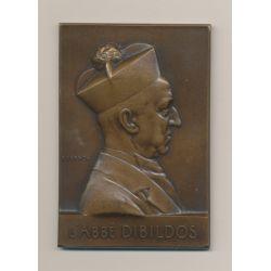 Plaquette - L'Abbé Dibildos - Fondateur École Gerson - 1884-1908 - bronze - F.Vernon - TTB+