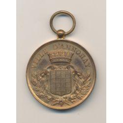 Médaille - Ville d'Annonay - Dept07 - Concours arts 1898 - bronze - 37mm - TTB+