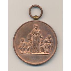 Médaille - Ville de montreuil - Société d'instruction civique - cuivre - 51mm - TTB
