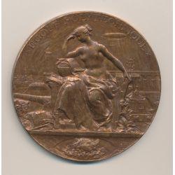 Médaille - École Polytechnique X - par Max bourgeois - bronze - 68mm - TTB+