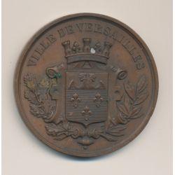 Médaille - Conservatoire de musique - Versailles - 1884 - cuivre - 51mm - TTB+