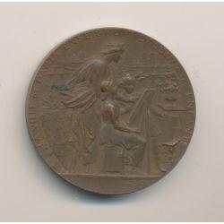 Médaille - Enseignement primaire - 1897 - bronze - 36mm - TTB
