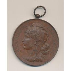Médaille - Concours de danse - 1897 - Tours - bronze - 62mm - TTB