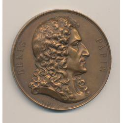 Médaille - Denis Papin - Appareil à vapeur - 1873-1898 - Borrel/Dubois - bronze - 50mm - TTB