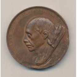 Médaille - Charles de bouchère - bourgmestre Bruxelles - 1860 - bronze - 46mm - TB