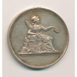 Médaille - déesse assise - vermeil 15g - 37mm - TB