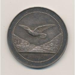 Médaille - La Mésange - 1903 - argent 30g - 40mm - Bescher et Janvier - TTB+