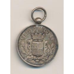 Médaille - Société de Tir - Auxonne (21) - argent - 33mm - TTB+