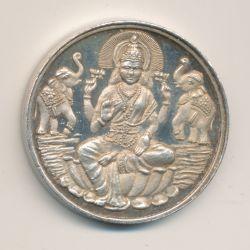 Médaille - 125e anniversaire BNP en Inde - 1860-1985 - argent -39mm - SUP