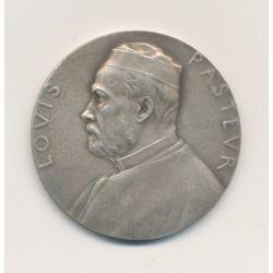 Médaille - Louis Pasteur - 1888 - Graveur Roty - argent - 37mm - TTB+