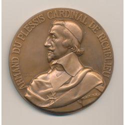 Médaille - Cuirassé Richelieu - par Guiraud - bronze - 67mm - SUP+