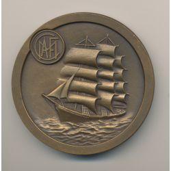 Médaille - Crédit maritime aérien et fluvial - bronze - 60mm - TTB+