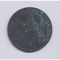 Médaille - Exposition universelle Anvers - 1885 - cuivre - TTB - 31mm