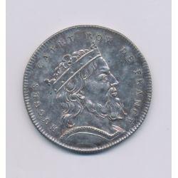 Médaille - Hugues Capet - Refrappe 20e - argent - 33mm - TTB+