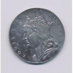 Médaille - Louis V - Refrappe 20e - argent - 33mm - TTB+