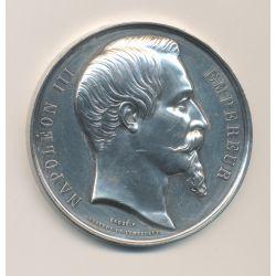 Médaille - Napoléon III - Ministère de l'agriculture du commerce et des travaux publics - 1861 - argent - 51mm