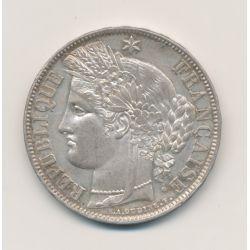 5 Francs Cérès - 1851 A Paris - 2e République - TTB+