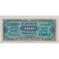 100 Francs Drapeau - ND 1944 - série 2  - TB