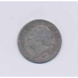 Louis XVIII - 1817 L Bayonne - 1/4 Franc - TB